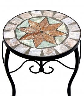 Blumenhocker Mosaik Rund 29 cm Blumenständer 17828 Beistelltisch Pflanzenständer Mosaiktisch Klein - Vorschau 3