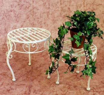 Blumenhocker Romance 2er Set Blumenständer 20218 Pflanzenständer Hocker Weiß