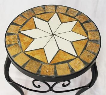 Blumenhocker Merano Mosaik 2er Set 12014 Blumenständer 20 und 27cm Hocker Rund - Vorschau 5