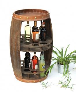 DanDiBo Weinregal Holz Weinfass Braun 83 cm 9045 Bar Flaschenregal Flaschenständer XL Fass Holzfass Weinschrank