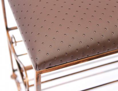 Schuhregal mit Sitzbank Art.295 Bank 70cm Schuhschrank aus Metall Schuhablage - Vorschau 2