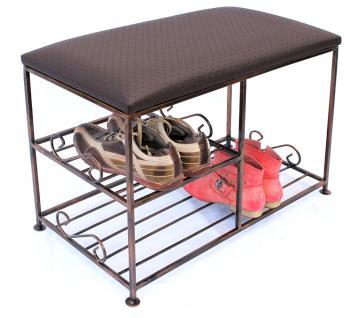 Schuhregal mit Sitzbank Art.295 Bank 70cm Schuhschrank aus Metall Schuhablage - Vorschau 3