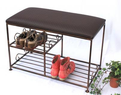 Schuhregal mit Sitzbank Art.295 Bank 70cm Schuhschrank aus Metall Schuhablage - Vorschau 4
