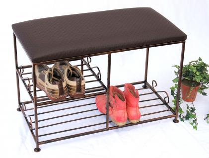 Schuhregal mit Sitzbank Art.295 Bank 70cm Schuhschrank aus Metall Schuhablage - Vorschau 5