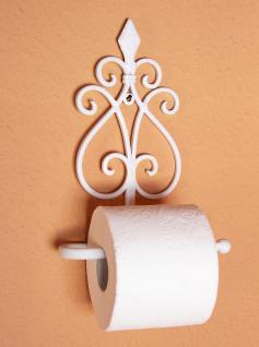 Toilettenrollenhalter 92103 Weiß Toilettenpapierhalter 26cm Metall Wandhalter