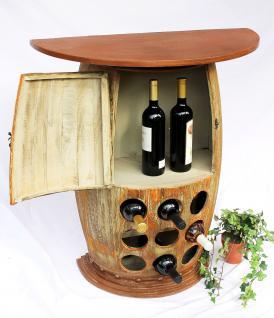 Wandtisch Tisch Weinfass Nr.1500 Schrank Weinregal Fass aus Holz H-85cm Regal Bar