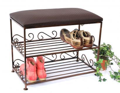 Schuhregal mit Sitzbank Art.165 Bank 60cm Schuhschrank aus Metall Schuhablage - Vorschau 3