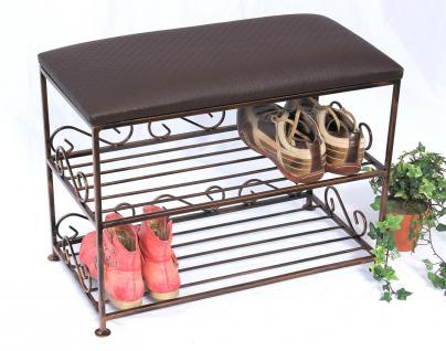 Schuhregal mit Sitzbank Art.165 Bank 60cm Schuhschrank aus Metall Schuhablage - Vorschau 5