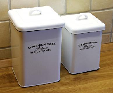 Aufbewahrungsdose Set 51210 Dose Topf 18cm und 22cm emailliert Landhaus Emaille - Vorschau 2