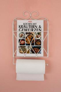 Küchenrollenhalter Zeitungsständer Weiß 43cm Küchenregal Zeitungshalter Wandregal Küchenregal Papierrollenhalter - Vorschau 2