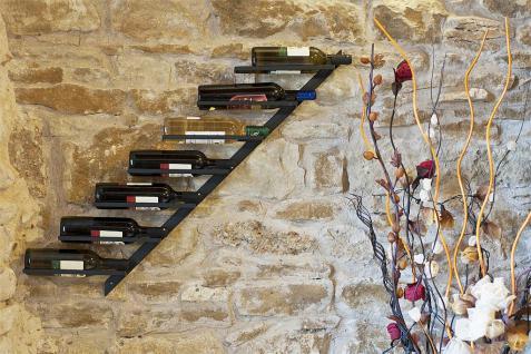 Weinregal Diagon Links 100cm aus Metall Flaschenhalter Flaschenständer Wandregal - Vorschau 2