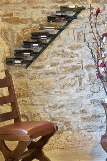 Weinregal Diagon Links 100cm aus Metall Flaschenhalter Flaschenständer Wandregal - Vorschau 4