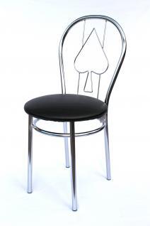 Stuhl aus Metall Bistrostuhl Art.261 Pik 88cm verchromt Stühle
