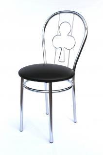 Stuhl aus Metall Bistrostuhl Art.261A Kreuz 88cm verchromt Stühle