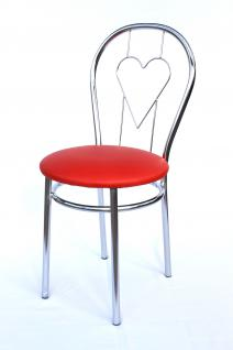 Stuhl aus Metall Bistrostuhl Art.261C Herz 88cm verchromt Stühle