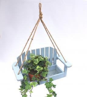 Blumenampel Schaukel 14B249 Blau Gartenschaukel 39cm Vogelfutter oder Pflanzhänger - Vorschau 4