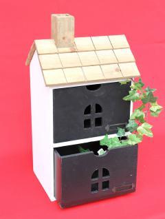 Minikommode Haus Kommode 14B407 Schrank mit 2 Schubladen 43cm Ordner Küchenregal