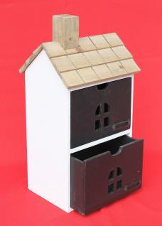 Minikommode Haus Kommode 14B407 Schrank mit 2 Schubladen 43cm Ordner Küchenregal - Vorschau 2