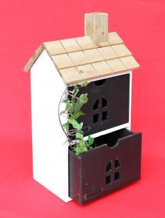 Minikommode Haus Kommode 14B407 Schrank mit 2 Schubladen 43cm Ordner Küchenregal - Vorschau 5
