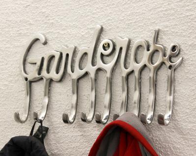 Garderobe 14463 Wandgarderobe 40cm mit 9 Kleiderhaken aus Alu Silberfarben Haken - Vorschau 2