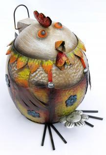 Abfalleimer Huhn Treteimer Hühnchen Mülleimer aus Metall 40cm Eimer Hahn