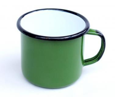 Emaille Tasse 501/8 Grün Becher emailliert 8 cm Kaffeebecher Kaffeetasse Teetasse
