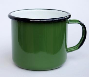 Emaille Tasse 501/10 Grün Becher emailliert 10 cm Kaffeebecher Kaffeetasse Teetasse - Vorschau 2