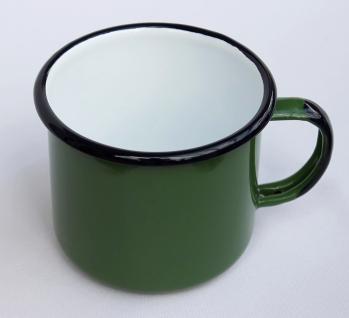 Emaille Tasse 501/10 Grün Becher emailliert 10 cm Kaffeebecher Kaffeetasse Teetasse - Vorschau 3