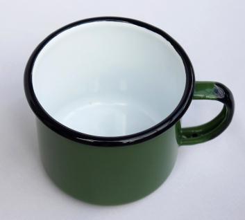 Emaille Tasse 501/10 Grün Becher emailliert 10 cm Kaffeebecher Kaffeetasse Teetasse - Vorschau 4