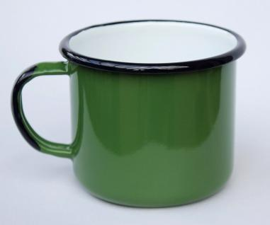 Emaille Tasse 501/10 Grün Becher emailliert 10 cm Kaffeebecher Kaffeetasse Teetasse - Vorschau 5