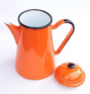 Kaffeekanne 578TB Orange emailliert 22cm Wasserkanne Kanne Emaille Nostalgie Teekanne - Vorschau 3