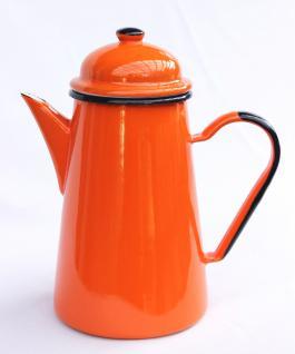 Kaffeekanne 578TB Orange emailliert 22cm Wasserkanne Kanne Emaille Nostalgie Teekanne - Vorschau 4