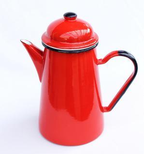 Kaffeekanne 578TB Rot emailliert 22cm Wasserkanne Kanne Emaille Nostalgie Teekanne - Vorschau 1