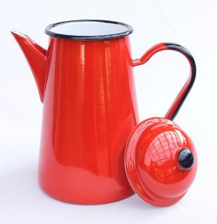 Kaffeekanne 578TB Rot emailliert 22cm Wasserkanne Kanne Emaille Nostalgie Teekanne - Vorschau 2