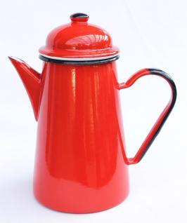 Kaffeekanne 578TB Rot emailliert 22cm Wasserkanne Kanne Emaille Nostalgie Teekanne - Vorschau 4