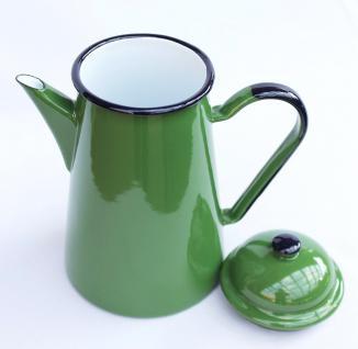 Kaffeekanne 578TB Grün emailliert 22cm Wasserkanne Kanne Emaille Nostalgie Teekanne - Vorschau 3