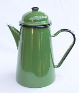 Kaffeekanne 578TB Grün emailliert 22cm Wasserkanne Kanne Emaille Nostalgie Teekanne - Vorschau 4