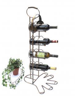 Weinregal 10-0045 Flaschenregal Flaschenhalter aus Metall 93cm Weinständer Regal