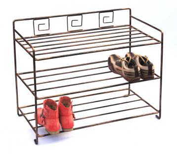 Schuhregal Art.431 Schuhablage 72cm Schuhschrank Regal Metall Schmiedeeisen