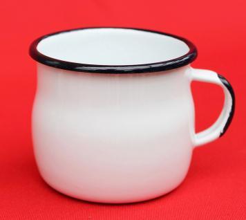 Emaille Tasse 501w/7 Weiß Becher emailliert 7 cm Kaffeebecher Kaffeetasse Teetasse