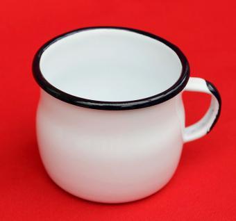 Emaille Tasse 501w/7 Weiß Becher emailliert 7 cm Kaffeebecher Kaffeetasse Teetasse - Vorschau 2