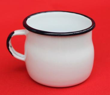 Emaille Tasse 501w/7 Weiß Becher emailliert 7 cm Kaffeebecher Kaffeetasse Teetasse - Vorschau 3