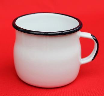 Emaille Tasse 501w/7 Weiß Becher emailliert 7 cm Kaffeebecher Kaffeetasse Teetasse - Vorschau 4