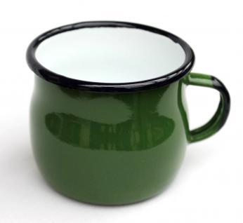 Emaille Tasse 501w/7 Grün Becher emailliert 7 cm Kaffeebecher Kaffeetasse Teetasse
