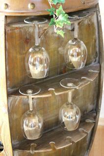 Weinregal Weinfass 0416 Bar Flaschenständer 84cm für 42 Fl. Regal Fass Holzfass Flaschenhalter - Vorschau 2