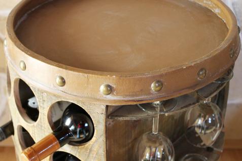 Weinregal Weinfass 0416 Bar Flaschenständer 84cm für 42 Fl. Regal Fass Holzfass Flaschenhalter - Vorschau 3