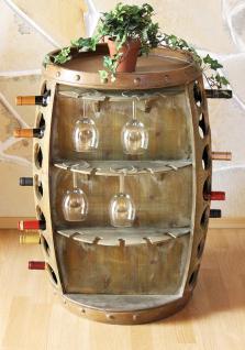 weinregal weinfass 0416 bar flaschenst nder 84cm f r 42 fl regal fass holzfass flaschenhalter. Black Bedroom Furniture Sets. Home Design Ideas