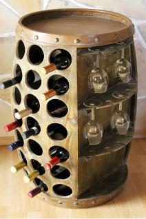 Weinregal Weinfass 0416 Bar Flaschenständer 84cm für 42 Fl. Regal Fass Holzfass Flaschenhalter - Vorschau 5