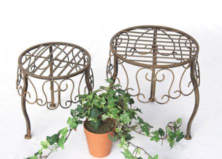 Blumenhocker 2er Set Blumenständer 140129 Pflanzenständer Hocker Beistelltisch