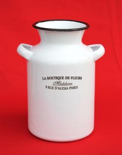 Vase 51218 Aufbewahrungsdose 20cm Krug emailliert Behälter Emaille Dose Email